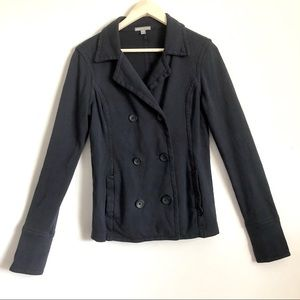 James perse Navy blue button down jacket